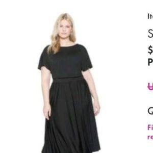 Eloquii Size 20 Black Midi Dress!